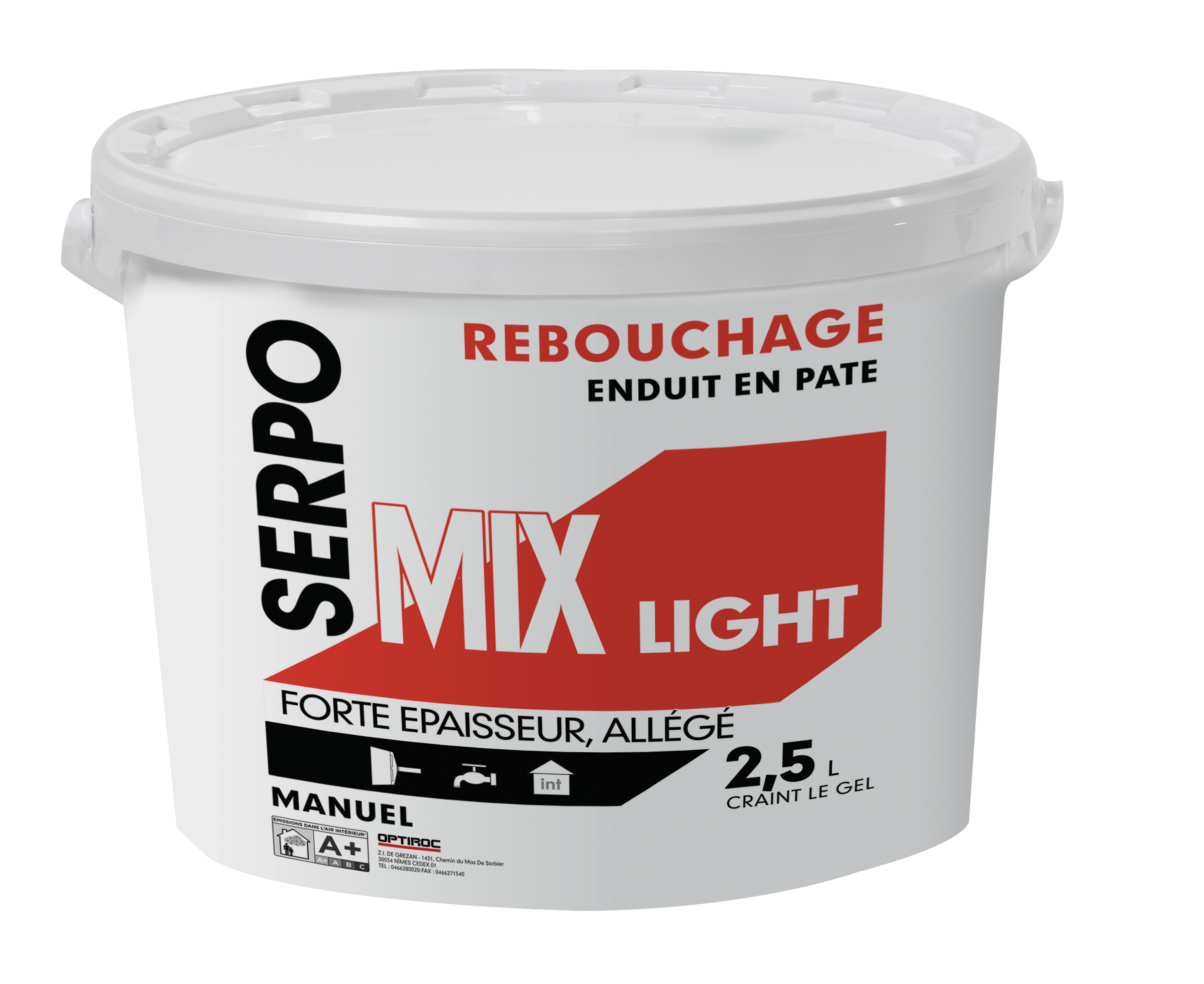 Epaisseur Enduit Sur Parpaing serpo mix light | optiroc.fr